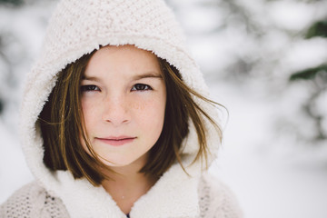 Girl Playing in the snow.