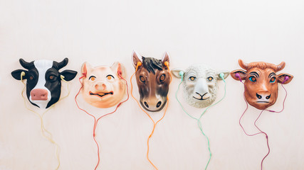 Five Farm Animal Friends Listening to Music