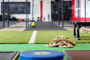 Rope On Carpet In Fitness Club