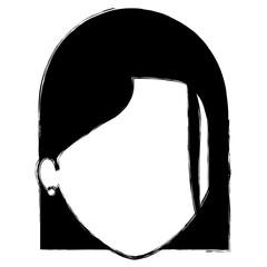 beautiful woman head avatar character