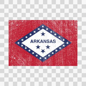 grunge styled flag Arkansas