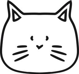 gesicht kopf klein kind baby hübsch süß niedlich katze kätzchen comic cartoon design haustier