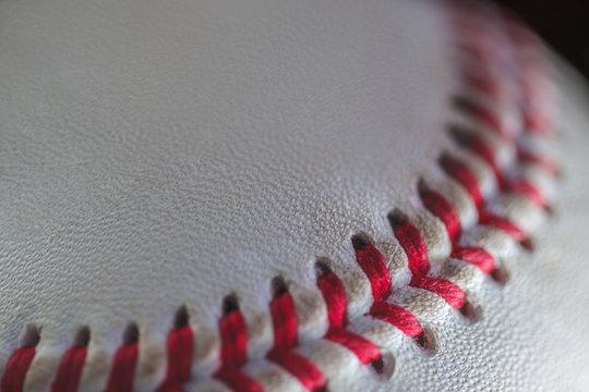 Extreme Close Up of a Baseball