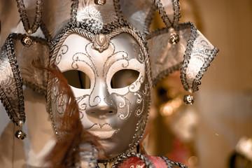 The splendid typical Venetian masks