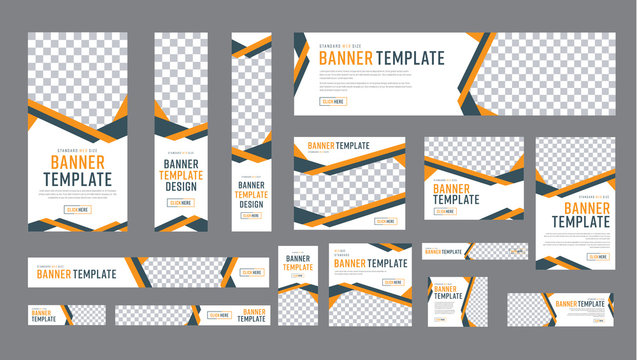 set of web banners of standard size with a place for photos