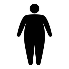 Fat / obese person facing obesity epidemic flat vector icon for apps and websites