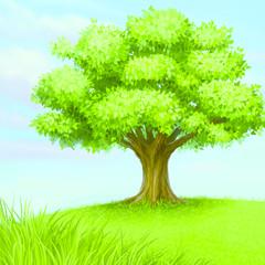tree on prairie