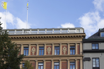 Hausfassade in Stockholm