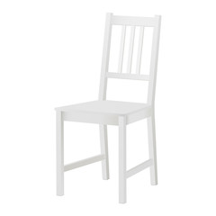 White chair mockup isolated. Vector illustration