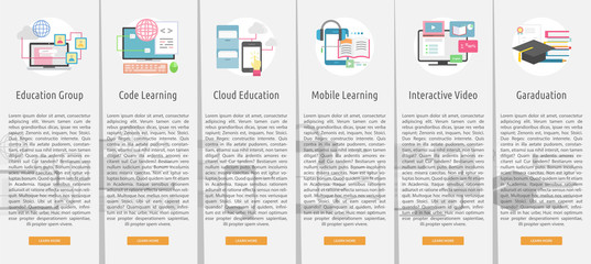 E-Learning and Online Education Banner Concept