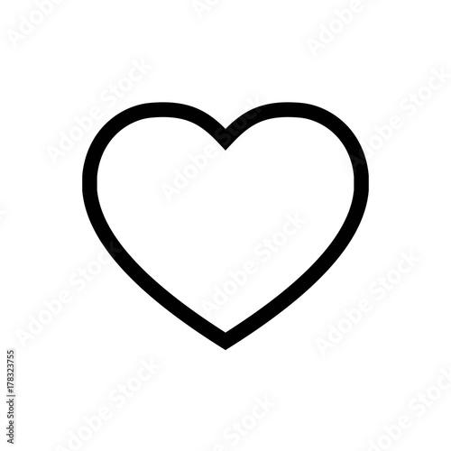 Heart Icon Vector Fat Design Editable Stroke 512x512 Pixel Perfect
