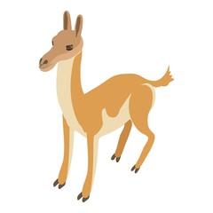 Young deer icon, isometric style