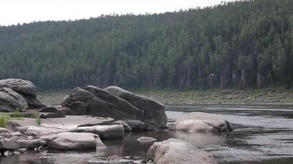 007 The Huge Stones In River Rocks Lie Forest