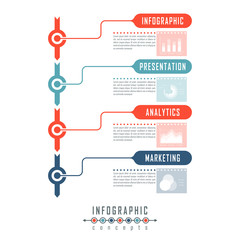 Vector timeline infographics for chart, diagram, web design, presentation, workflow layout