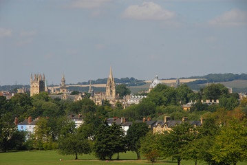 View of Oxford from South Park in summer