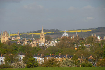 View of Oxford from South Park in spring