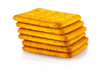 Stack graham crackers isolated on whte background.