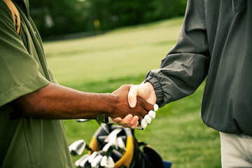 Golf: Agreeing on Business at Golf Course