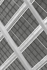 Solar Panel. Black and white photo.