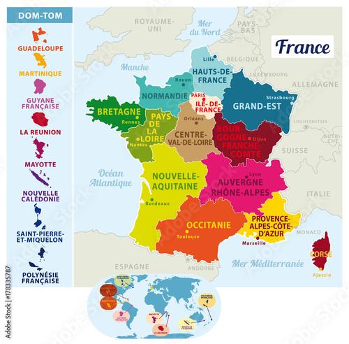 """""""Carte de France vectorielle. Nouvelles régions depuis ..."""