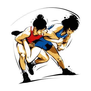 wrestling action 4