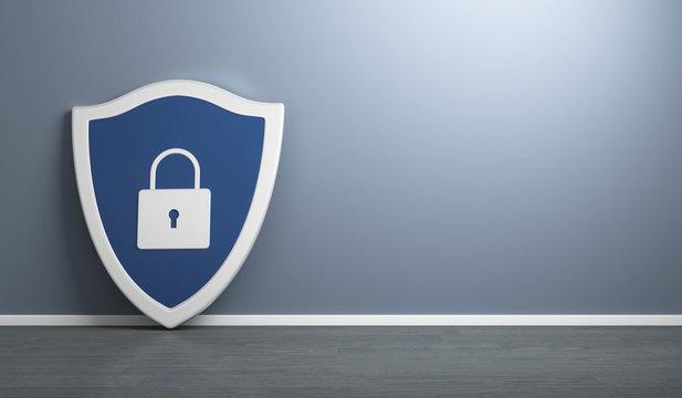 Datenschutz Schild mit Schloss
