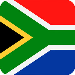 South Africa Flag Vector Square Flat Icon