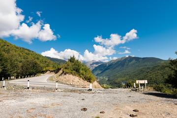 empty mountain road in Svaneti. Georgia