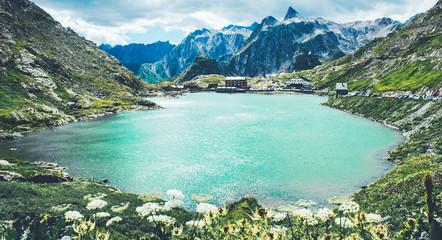 St Bernard pass and St Bernard abbeys in Switzerland.
