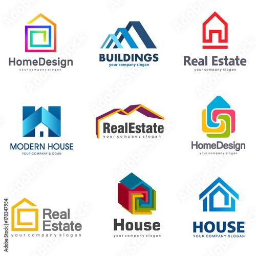Vector Logo Design Home Decor Decoration Stock Image And