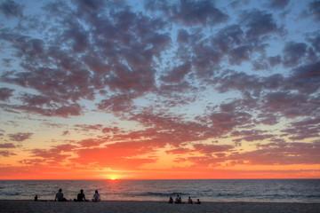Sunset on a beach in Perth, Australia
