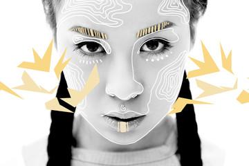 serious asian girl