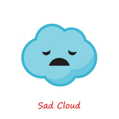 Banner Clouds Emotions. Cute cartoon. Vector illustration.