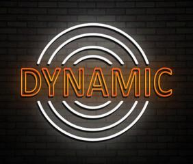 Dynamic neon concept.