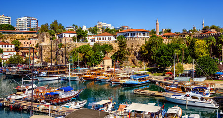 The old harbor of Antalya, Turkey