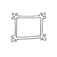 Hand drawn frame. Cartoon style.