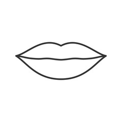 Lips linear icon