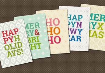 Christmas and New Year's Greeting Card Set 1
