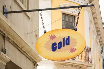 Schild 278 - Gold