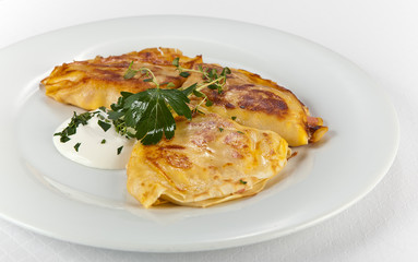 crepe with ham and sheese