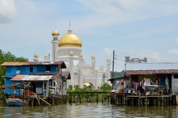 ブルネイ・ダルエスサラーム バンダルスリブガワン カンポン・アイール 水上集落 Negara Brunei Darussalam Bandar Seri Begawan Kampong Ayer