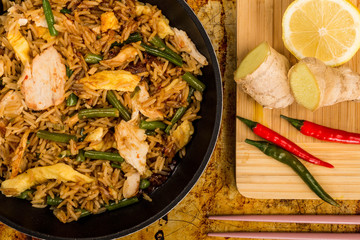 Indonesian Style Nasi Goreng Chicken and Rice Meal