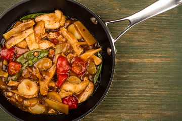 Chinese Style Chicken and Cashew Nuts Stir Fry Meal