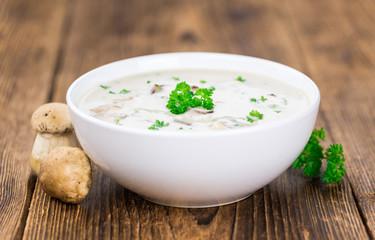 Fresh made Porcini Soup