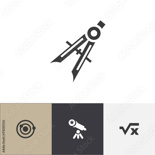 Set Of 4 Editable Education Icons Includes Symbols Such As Orbit