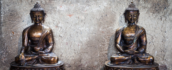Meditating Buddha Statues couple