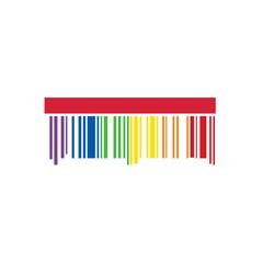 LGBT symbol love rainbow barcode. Related lgbt symbol. Vector illustration