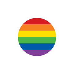 Round gay pride frame icon. LGBT concept. Vector illustration