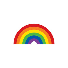 Rainbow icon. LGBT concept. Vector illustration