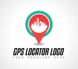 Creative GPS city locator Logo design for brand identity, company profile or corporate logos